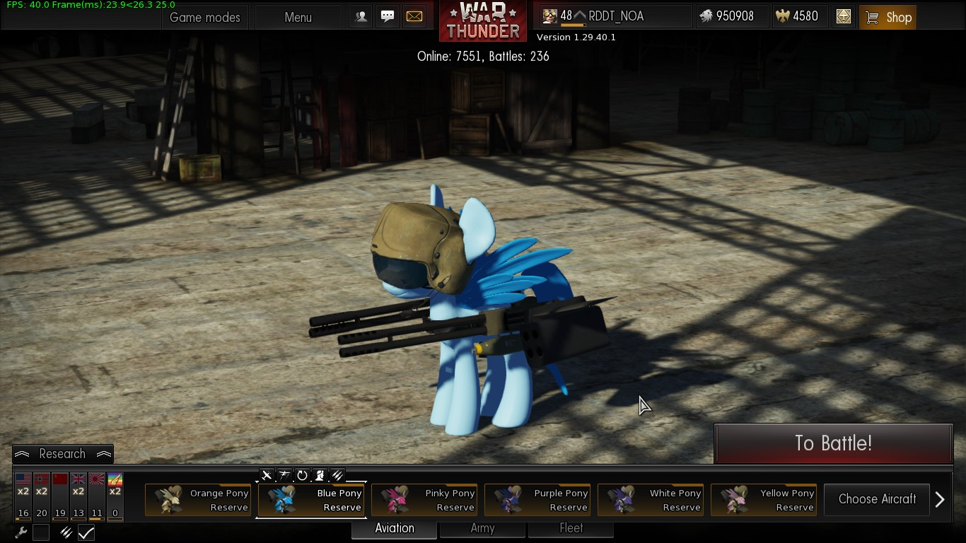 war thunder my little pony