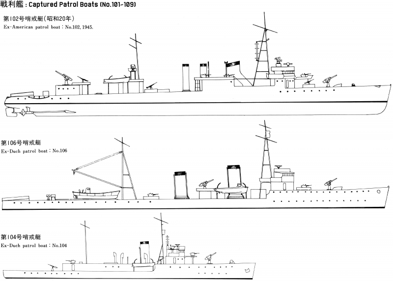 List of Japanese small ships during WW2 (Minesweepers, Submarine ...